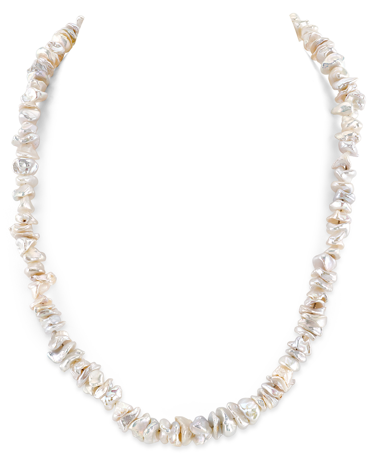 8-9mm White Freshwater Keshi Pearl Necklace