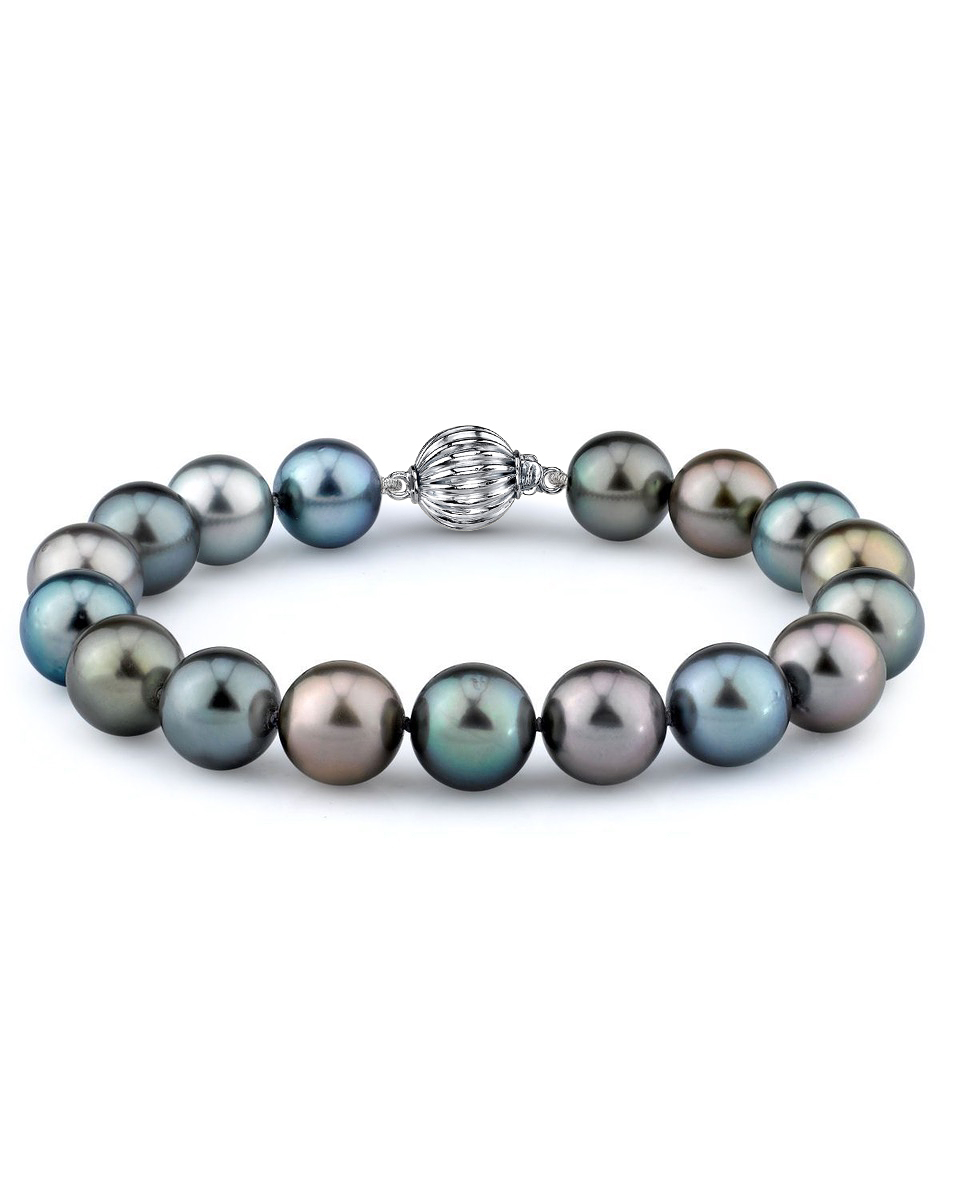 9-10mm Tahitian South Sea Multicolor Pearl Bracelet - AAAA Quality