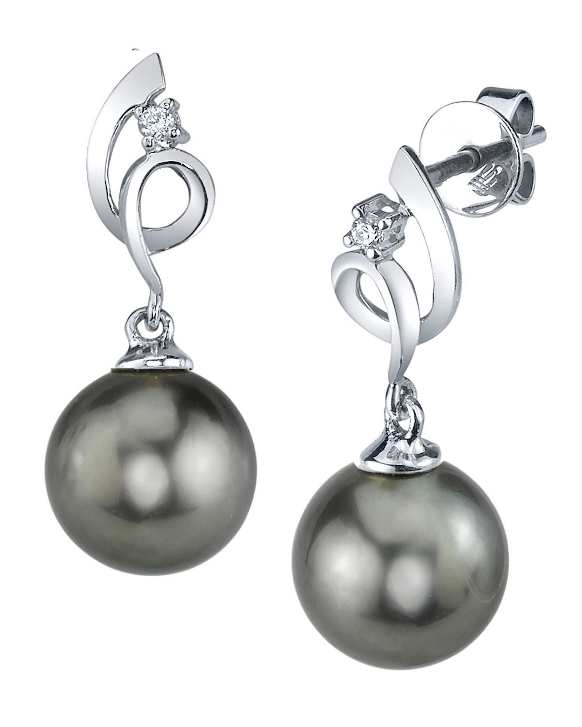 Buy Tahitian South Sea Pearl & Diamond Symphony Earrings ...