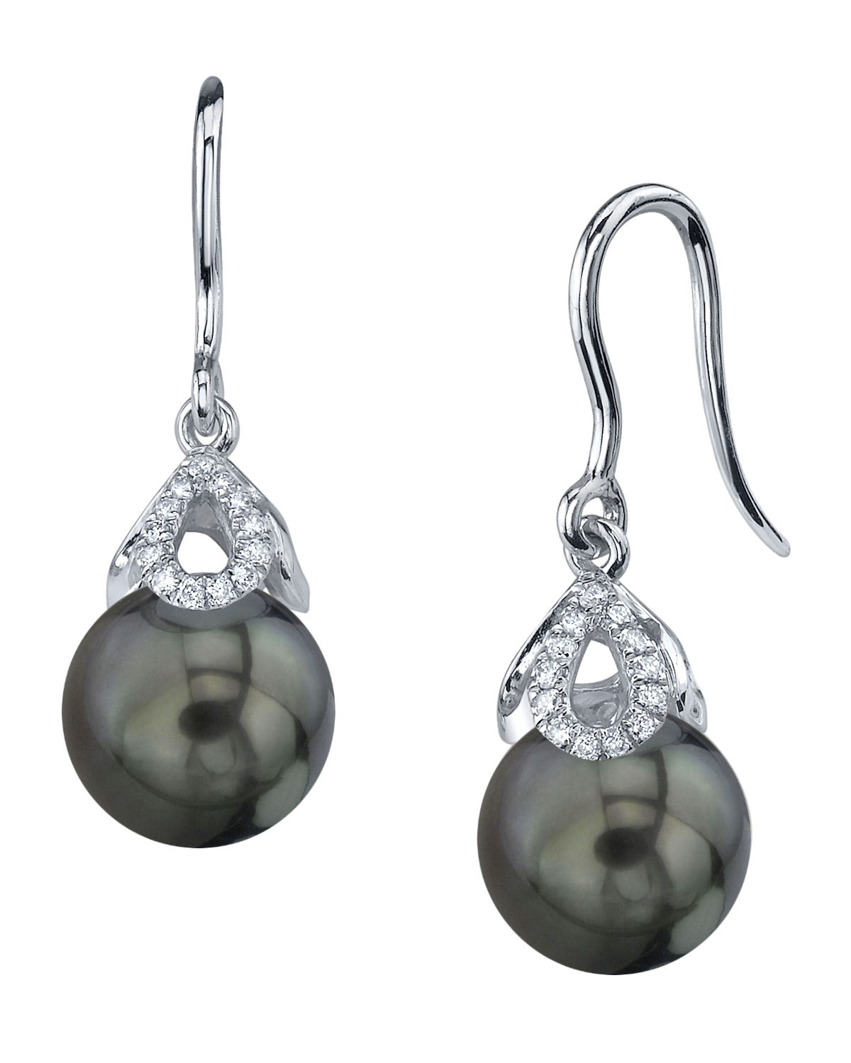 Tahitian South Sea Pearl & Diamond Alice Earrings