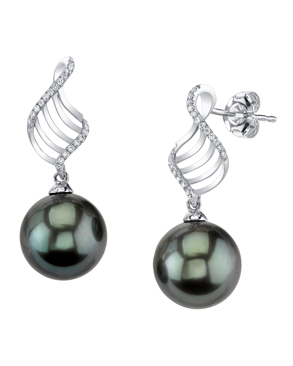 Tahitian South Sea Pearl Earrings | The Pearl Source