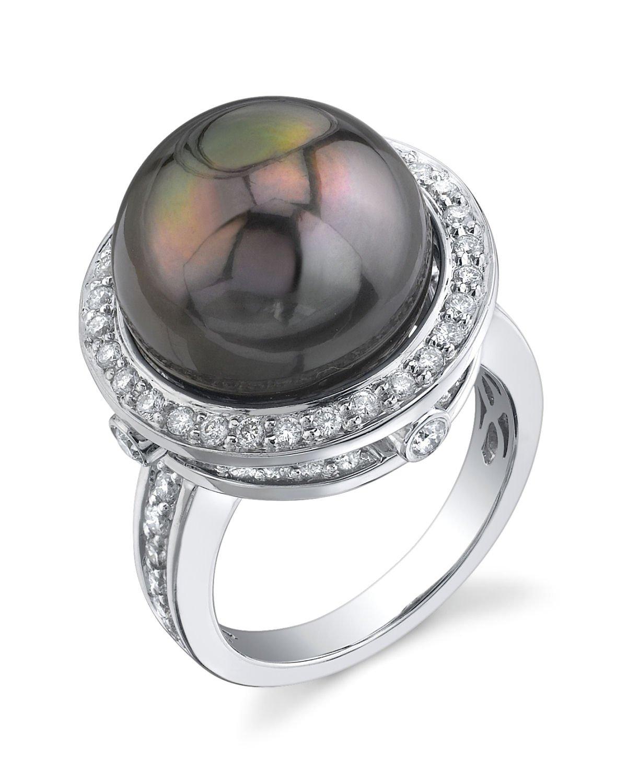 buy tahitian south sea pearl diamond bella ring for. Black Bedroom Furniture Sets. Home Design Ideas