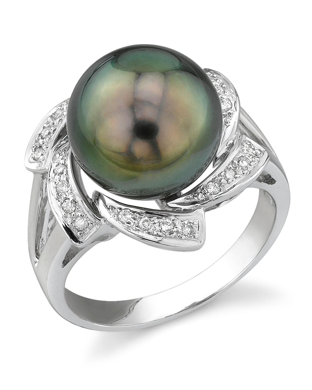 tahitian south sea pearl diamond nova ring. Black Bedroom Furniture Sets. Home Design Ideas