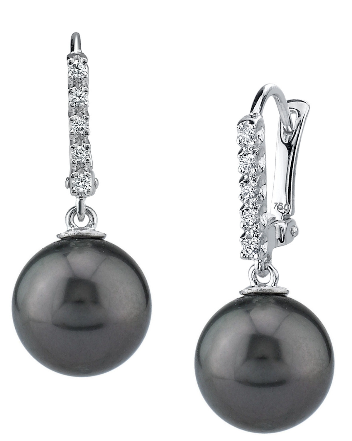 Tahitian South Sea Pearl & Diamond Britney Earrings