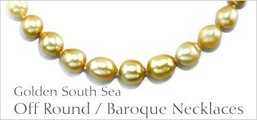 Baroque Shaped Golden Pearl Necklace