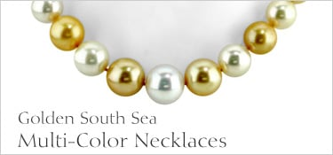 Multi-Colored Golden South Sea Pearl Necklace
