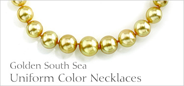 Uniform Color Golden South Sea Pearl Necklace